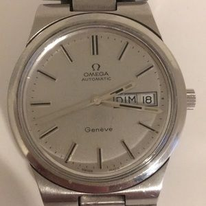 Men Omega Stainless Steel Automatic Movement Watch